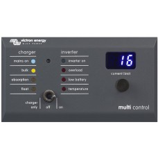 Victron Digitaal Multi Controlepaneel VE-Bus 200A/200A GX (90°)