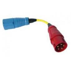Adapter cord 32A 1 fase (f) / 3 fase (m)