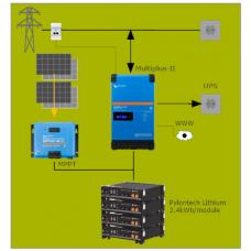 Parallel batterijopslag systeem 3kVA met MPPT